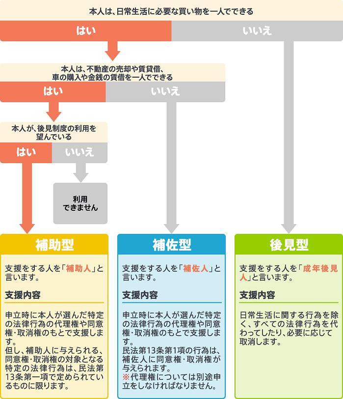 法定後見制度タイプ図